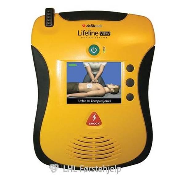 Bilde av Lifeline VIEW Hjertestarter - Videovisning, to